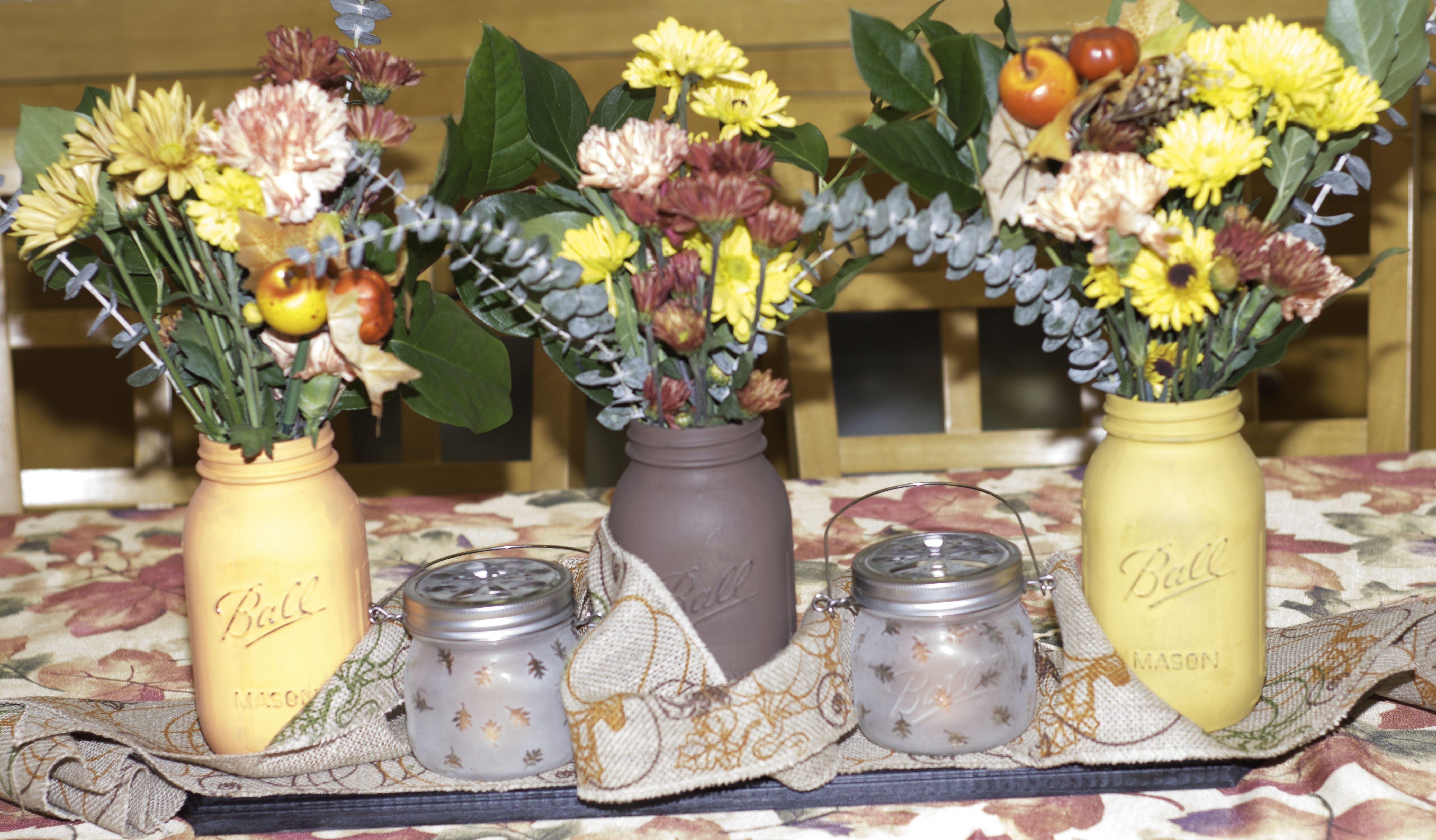Rustic thanksgiving centerpiece sew very crafty