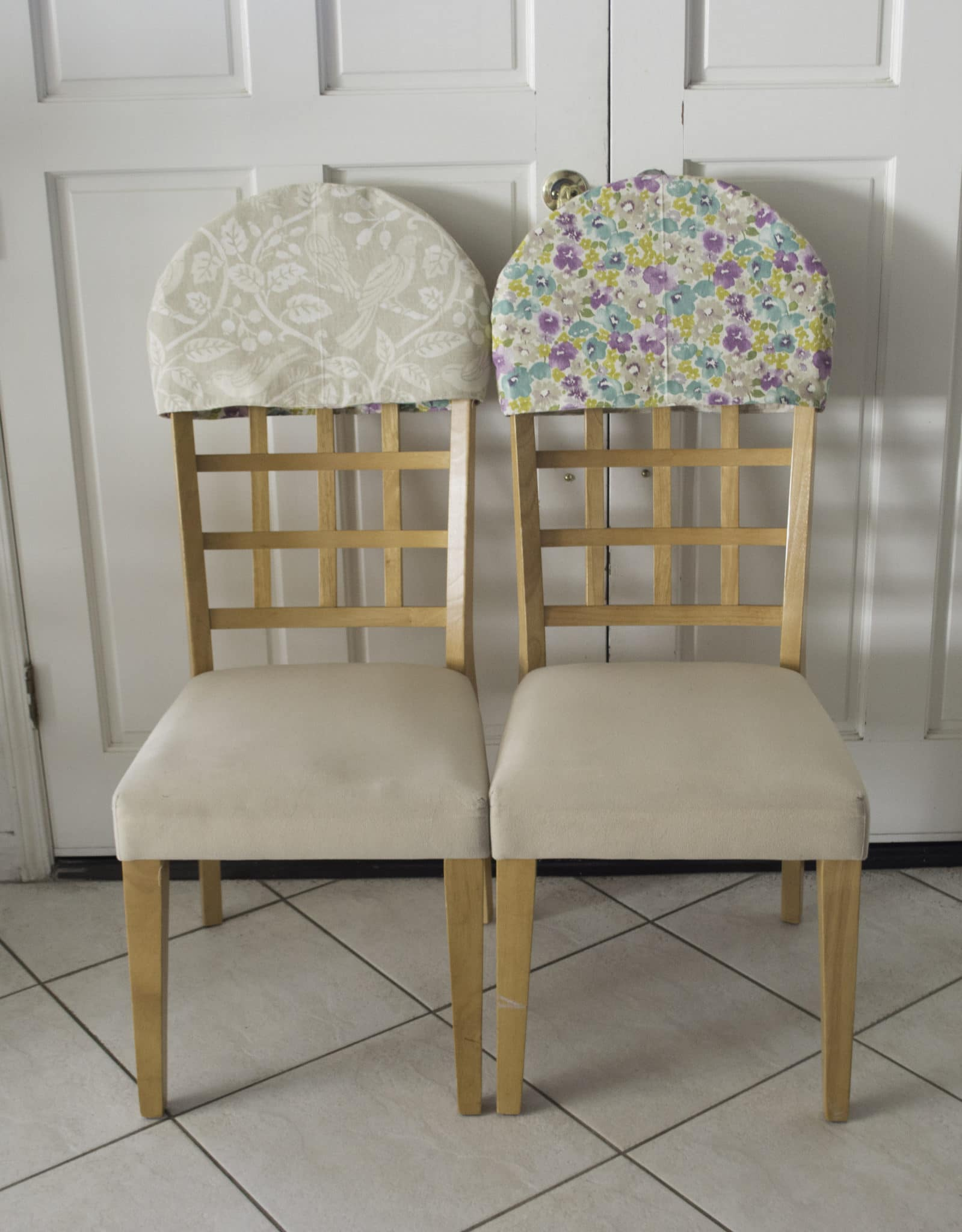 Reversible Padded Chair Back Covers - Sew Very Crafty