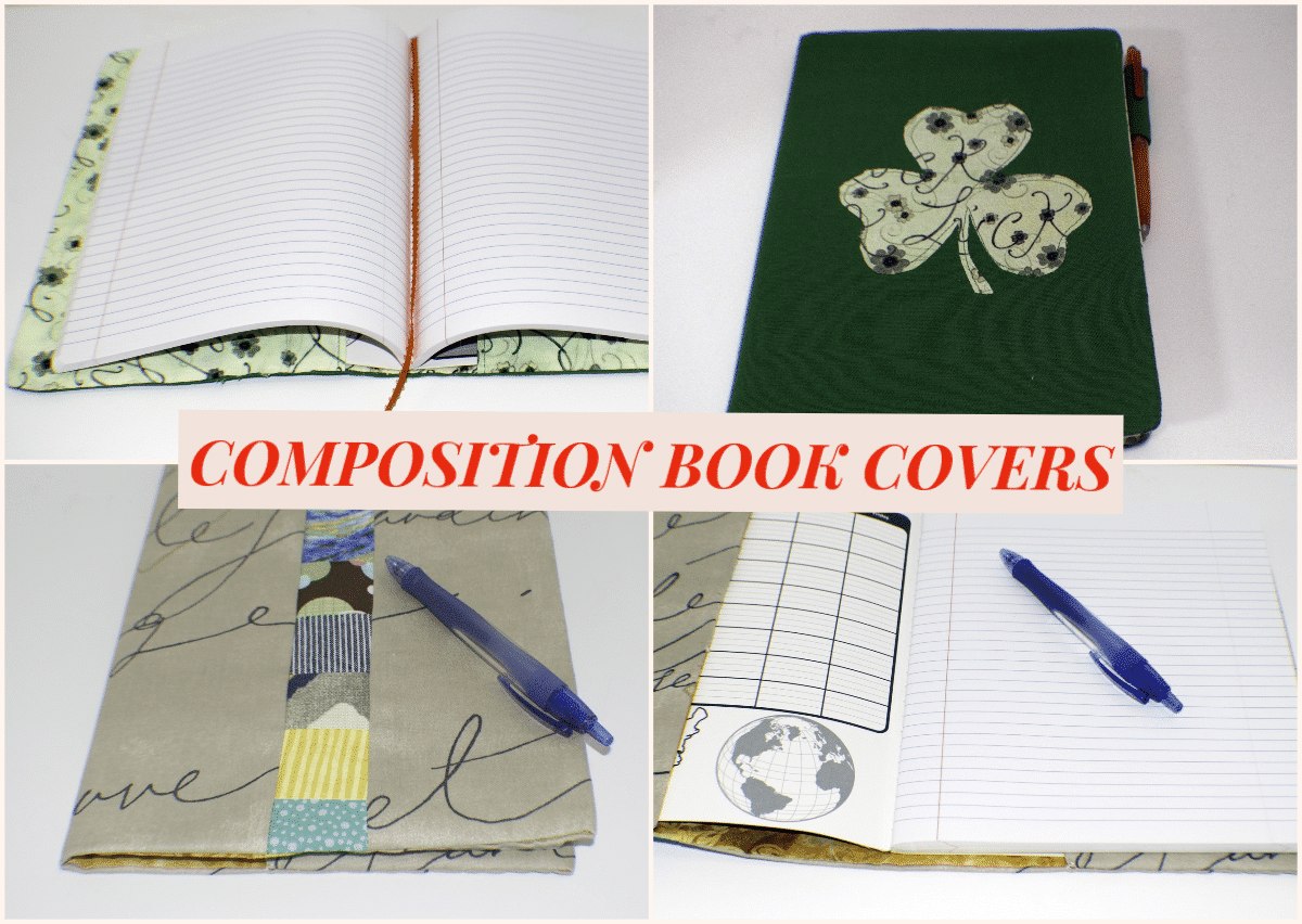 Composition Book Cover Pattern Fabric : Make a fabric journal cover sew very crafty